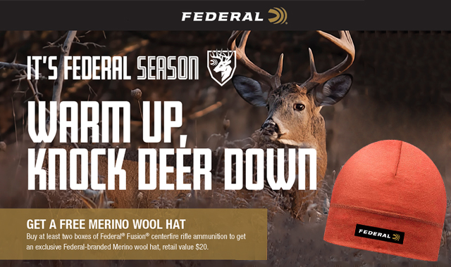 Its Federal Season Warm UP Knock Down Deer