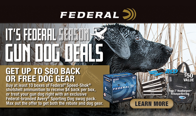 Rebate: Its Federal Season Waterfowl Gun Dog Deals