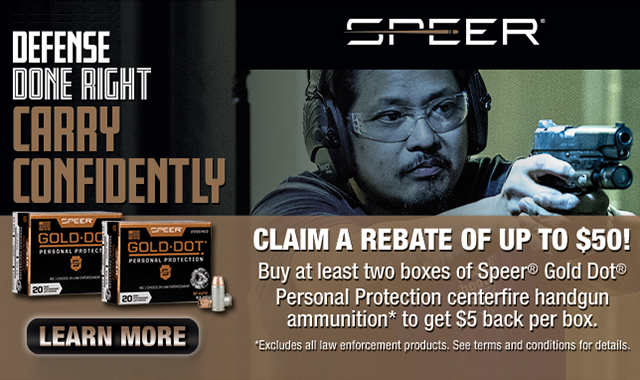 Rebate: Defense Done Right Carry Confidently