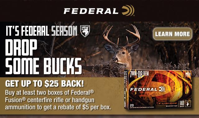 Rebate: Its Federal Seaon Drop Some Bucks