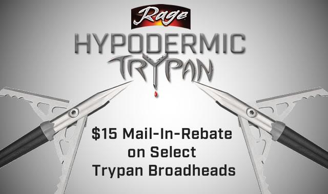 Rage Hypodermic Trypan Broadhead Rebate