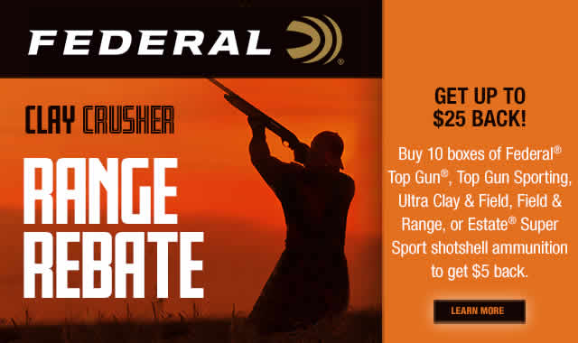 Rebate: Clay Crusher Range Rebate