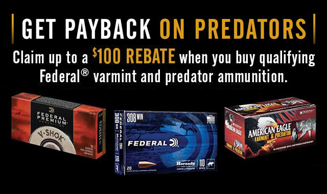 Rebate: Get Payback on Predators