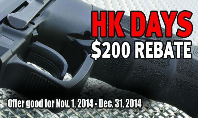 $200 Rebate on HK Pistols