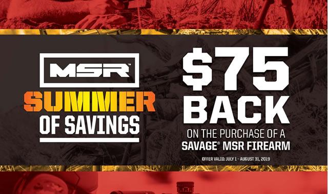 Summer of Savings MSR Rebate