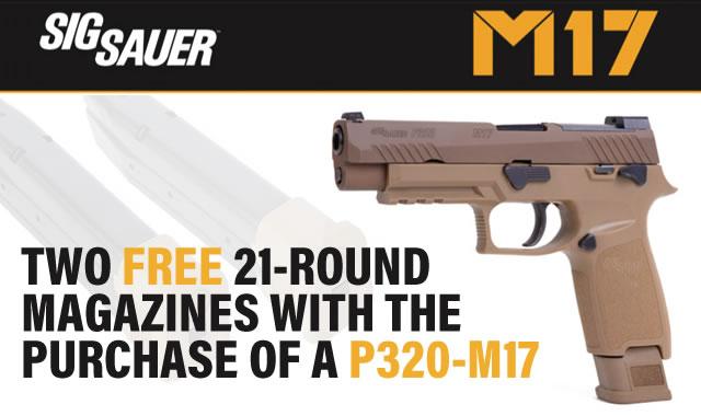 Rebate: P320 M17 2 Free Mags by Rebate