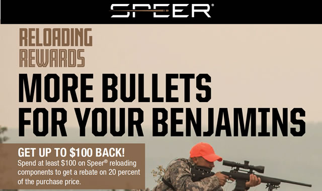 Rebate: More Bullets for your Benjamins
