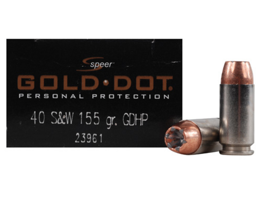 SPEER AMMUNITION 40 SW 155-GR GOLD DOT HP