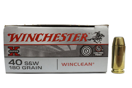 WINCHESTER AMMO 40 SMITH  WESSON 180 GR. WINCLEAN