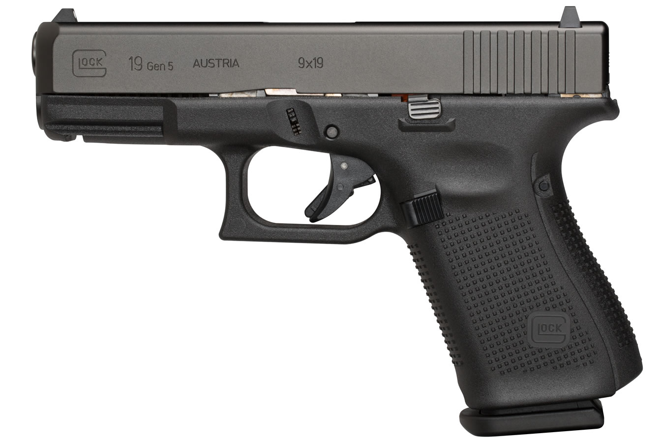 GLOCK 19 GEN5 9MM WITH FIXED SIGHTS (LE)