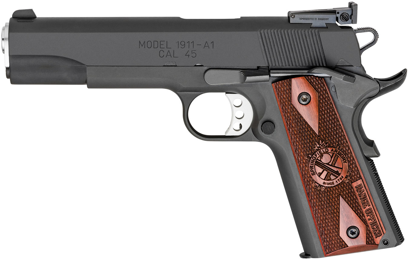 SPRINGFIELD 1911 RANGE OFFICER 45 ACP PARKERIZED WITH ADJUSTABLE TARGET SIGHT (LE)