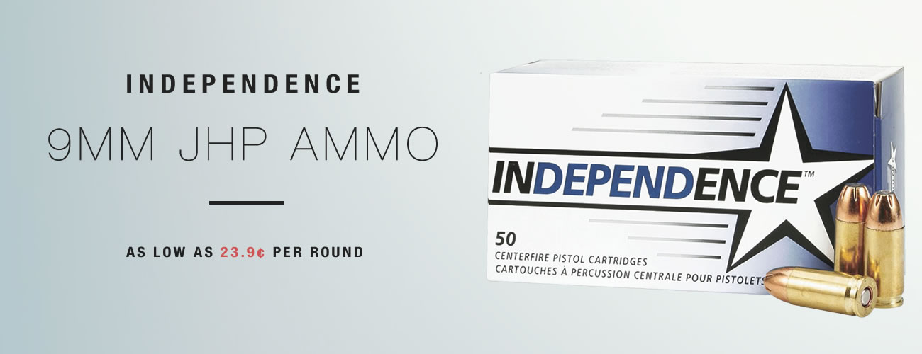 Independence 9mm Hollow Point Ammo for Sale