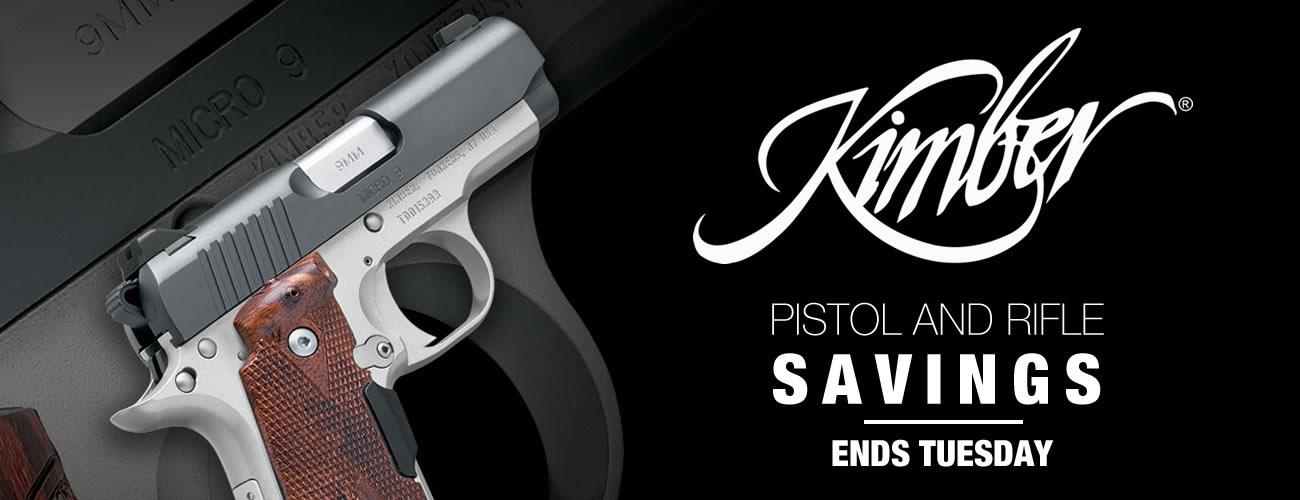 Kimber Pistol and Rifle Savings