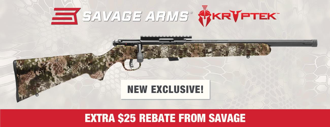 Savage FV-SR Rimfire Kryptek Rifles