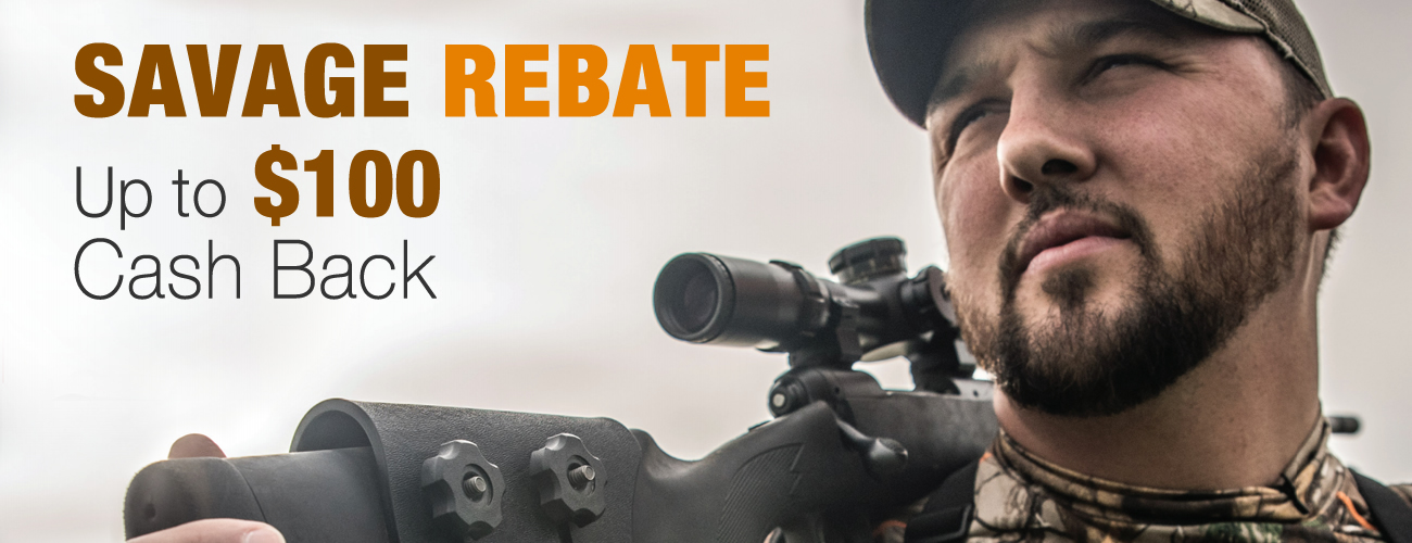 Rebate: Cash back when you buy Savage Arms rifles