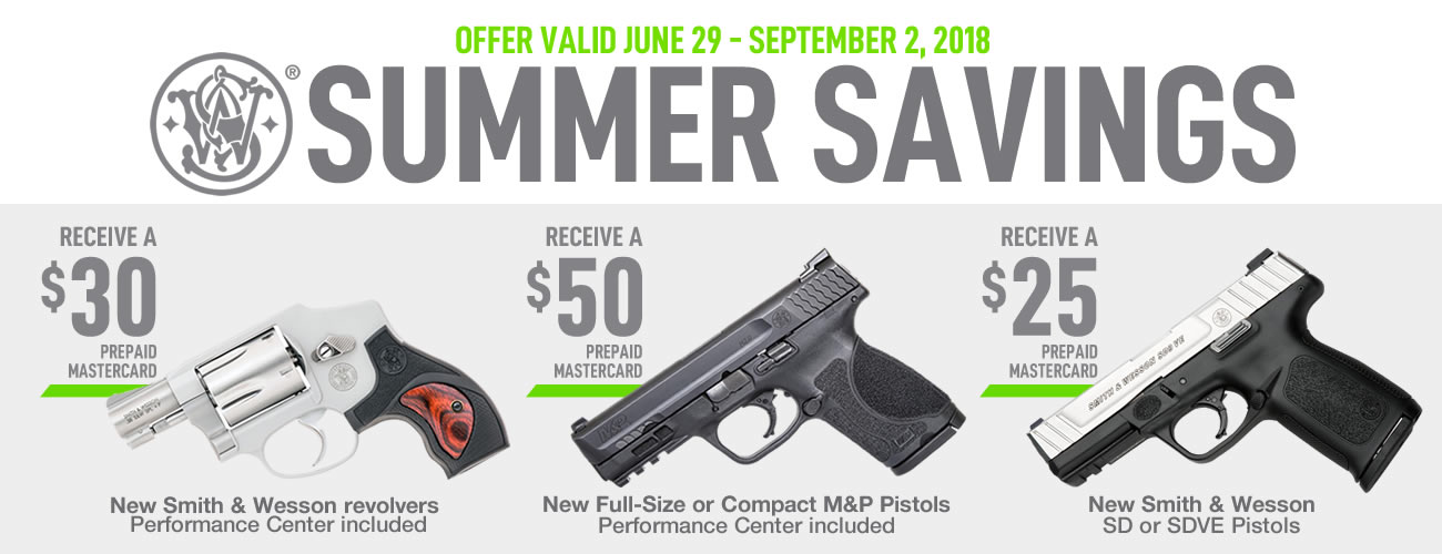 Smith & Wesson Summer Rebates