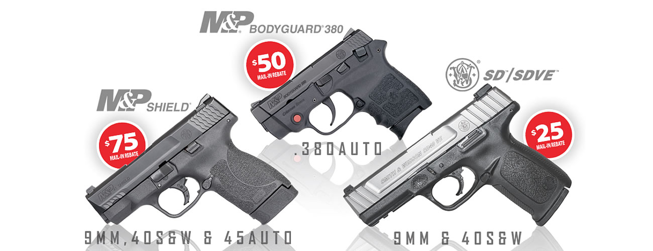 Smith & Wesson $75 Rebate on Shield Pistols