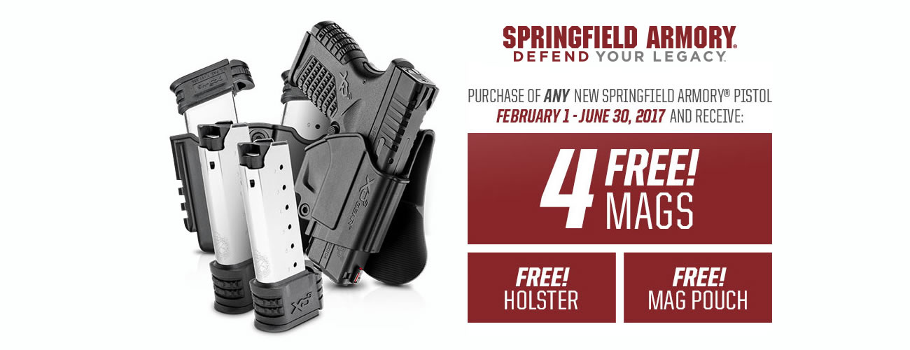 Buy any new Springfield pistol, get free gear
