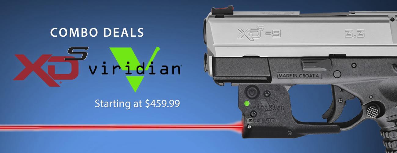 Springfield XDS with Viridian Laser Gun Combos