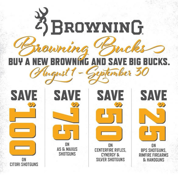 Browning Bucks Rebate