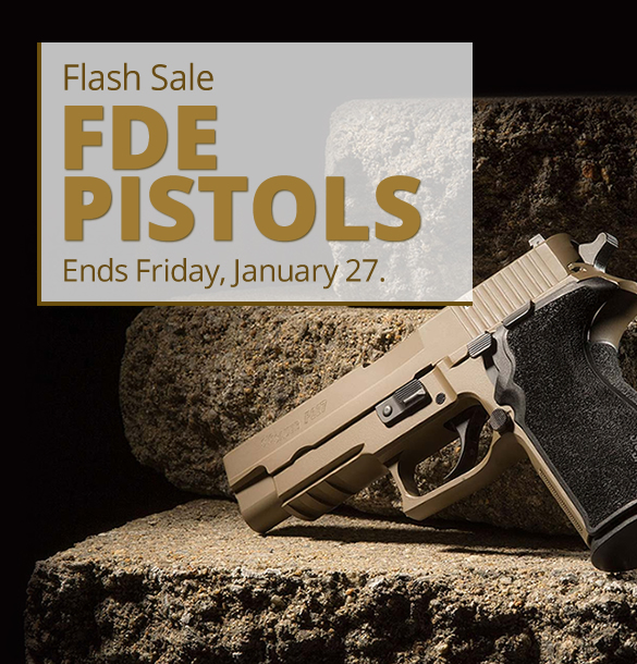 Flash Sale: Flat Dark Earth Pistols