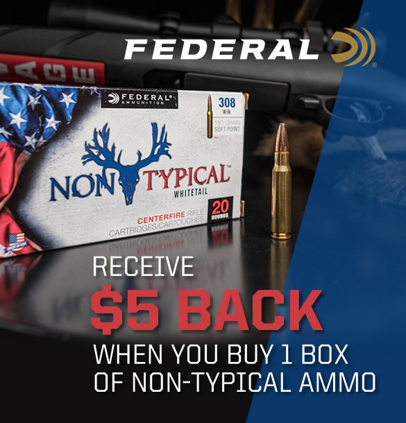 Federal Non-Typical Ammo Rebate $5