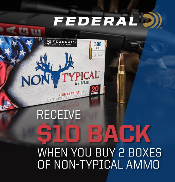 Federal Non-Typical Ammo Rebate