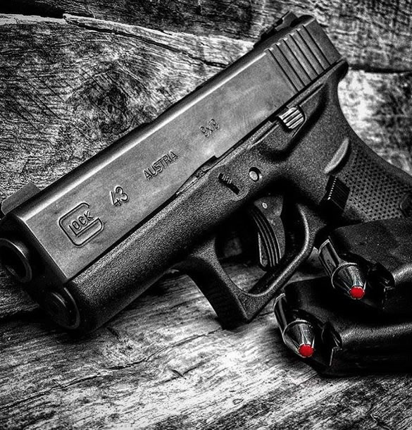 Glock 43 9mm Pistol with Night Sights