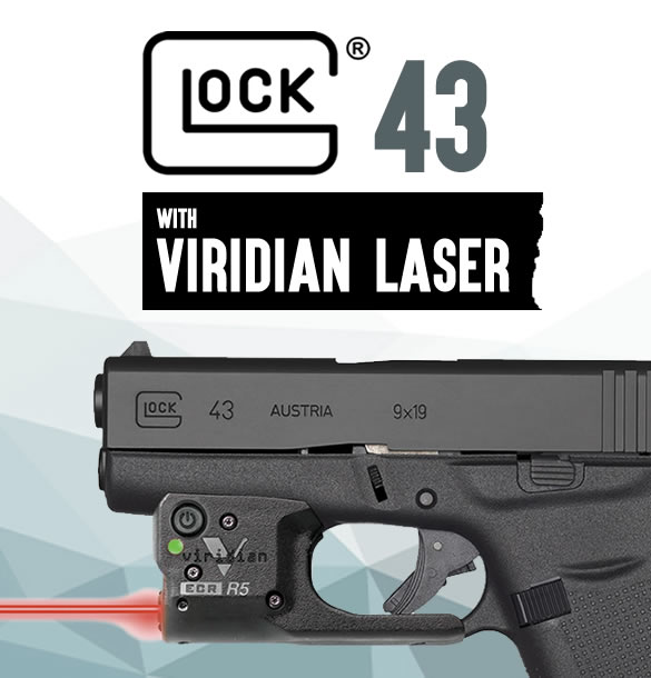 Glock 43 with Viridian Laser for Sale