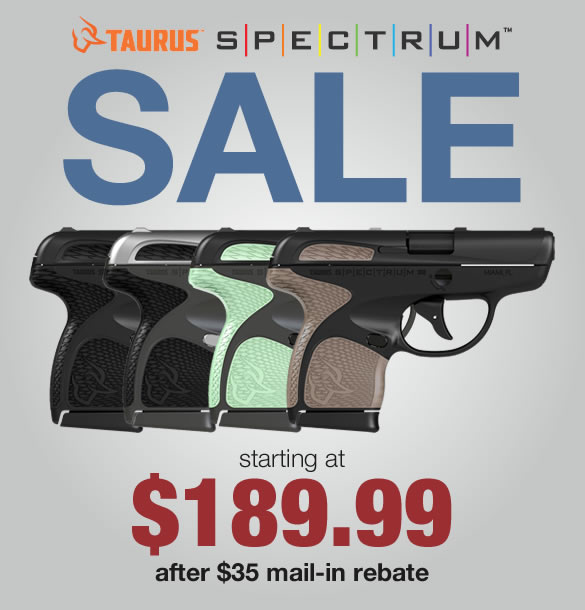 Taurus Spectrum Pistol Rebate Sale
