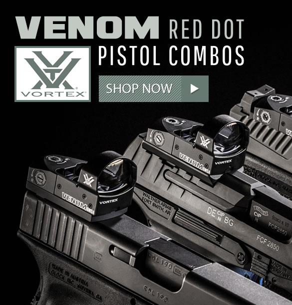 Vortex Venom Red Dot Pistol Combos