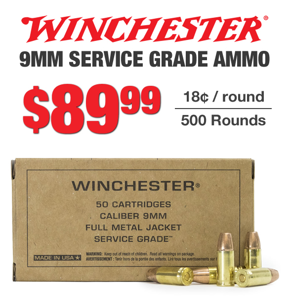 Winchester 9mm FMJ Ammo for Sale