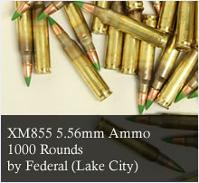 1000 Rounds of Federal Lake City XM855 5.56 Ammunition in M2A1 AMmo Can