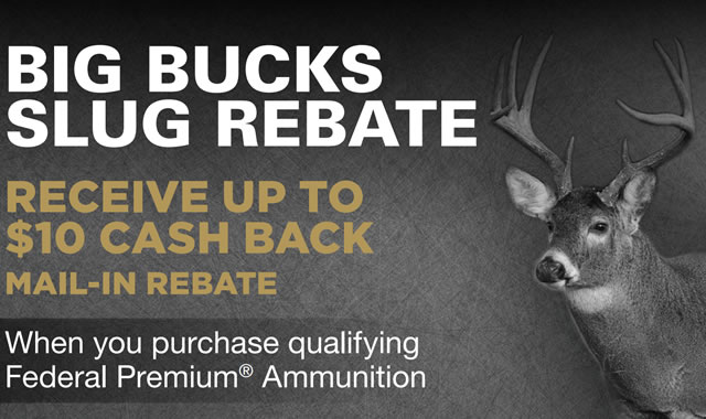 Big Bucks Slug Rebate