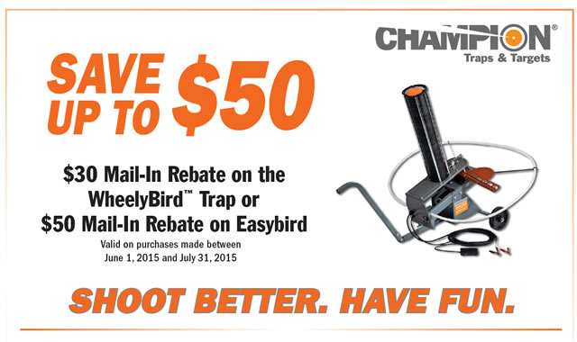 Wheelybird and EasyBird Rebate