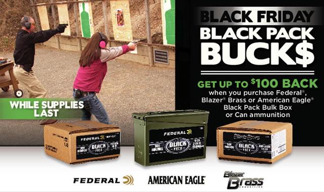 American Eagle Rebate >> Federal Rebate Black Friday Black Pack Bucks Sportsman S