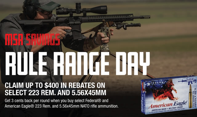 Rule Range Day XM193 Rebate
