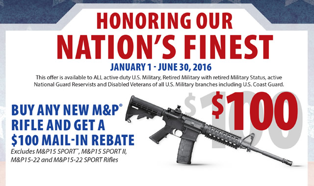 Smith and Wesson Nations Finest Rifle Rebate