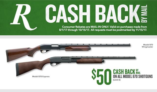 Model 870 Shotguns with Cash Back
