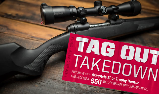 Tag Out Takedown Rebate