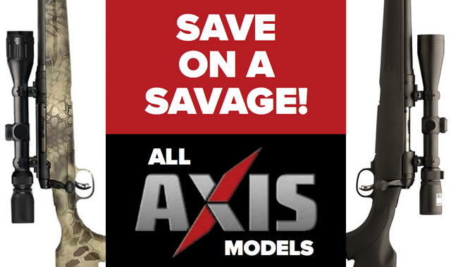 Save on a Savage Axis 2016
