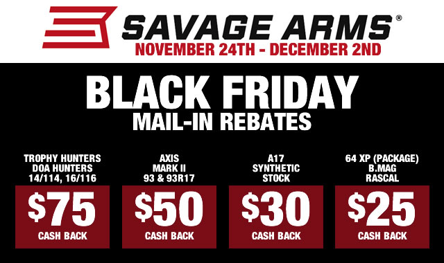Black Friday Rebates