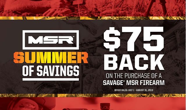 Summer of Savings MSR Rebate