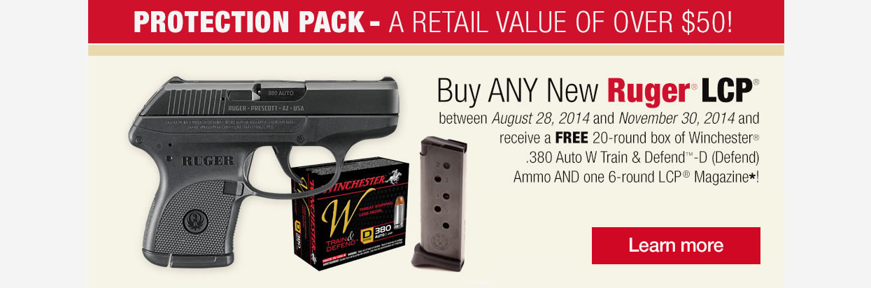 Ruger LCP Free Ammo and Magazine Promo
