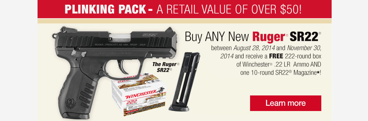 Ruger SR22 Free Ammo and Magazine Promo