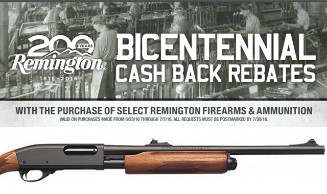 Remington Bicentennial Cash Back
