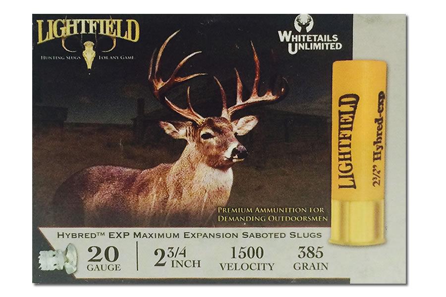 Lightfield 20 Ga 2 3 4 In 7 8 Oz Slugs Hybred Exp 5 Box