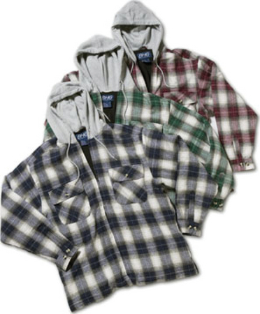 STEINEX MFG FLEECE LINED FLANNEL HOODY