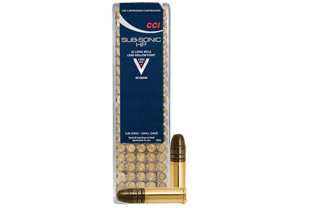CCI AMMUNITION 22LR 40 gr Lead Hollow Point Subsonic 100/Box