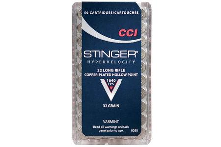 CCI AMMUNITION 22 LR 32 gr CPHP Stinger 50/Box
